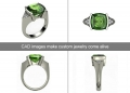 CADs for green toumaline ring
