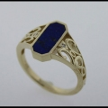 Lapis ladies ring with scroll work