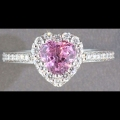 Pink Sapphire Heart Engagement ring
